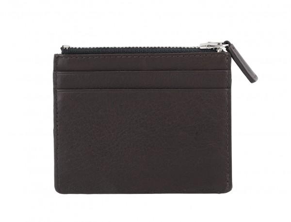 leather card holder brown back