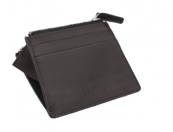 leather card holder brown side