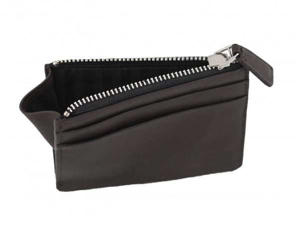 leather card holder brown inside