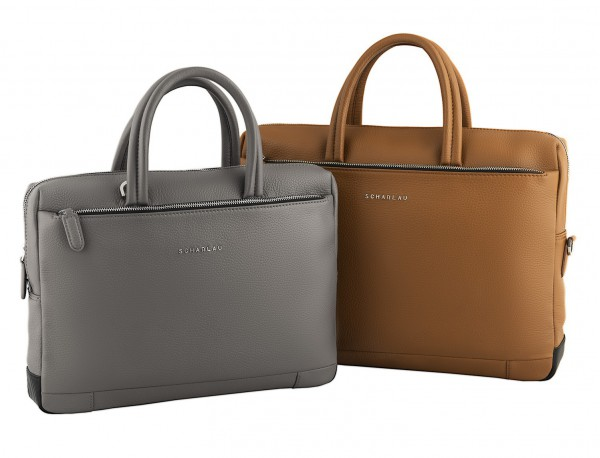 leather briefbag in camel measures