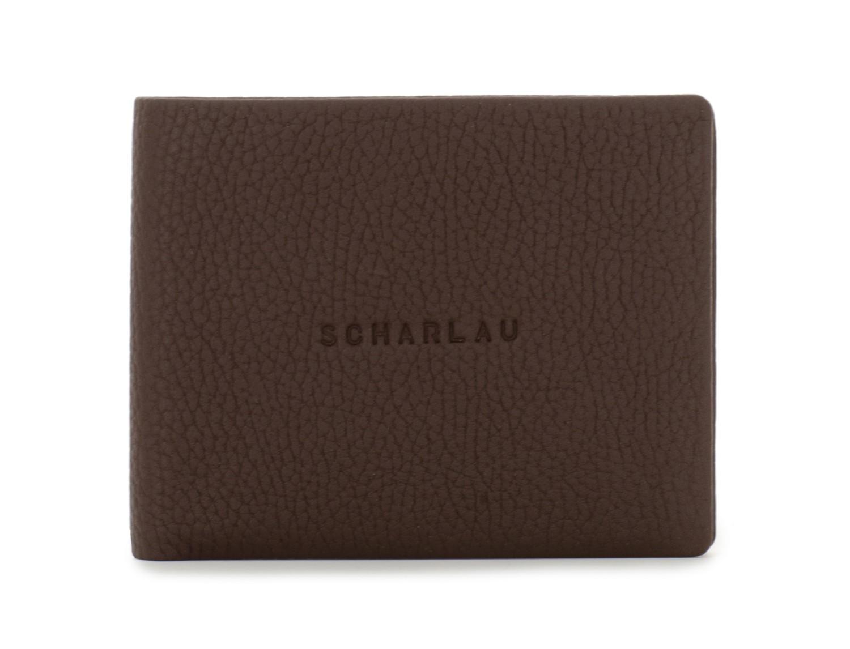 leather wallet men brown front