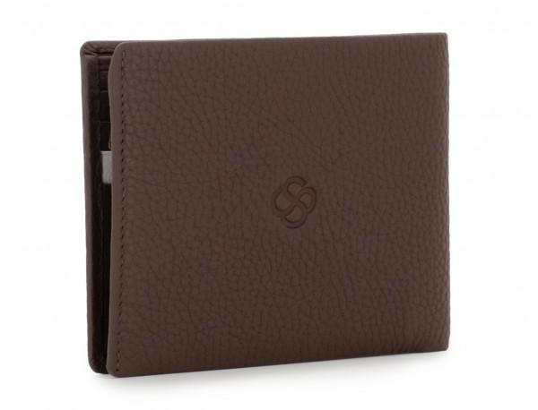 leather wallet men brown back