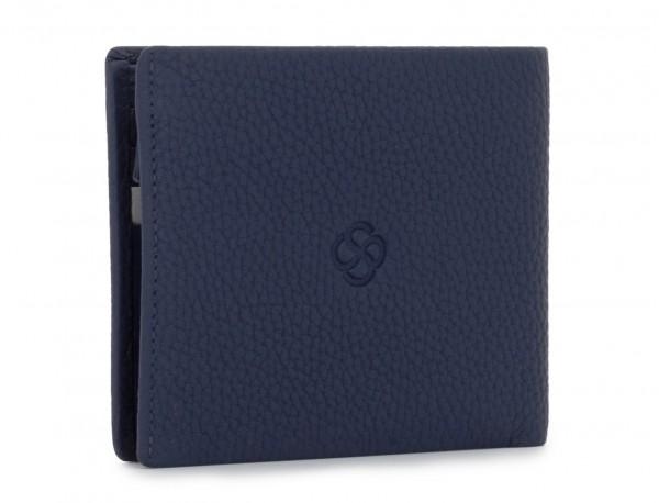 leather wallet men blue back