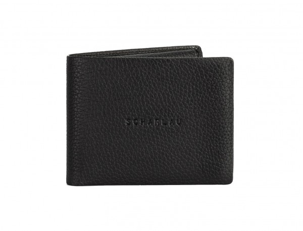 leather wallet men in black front
