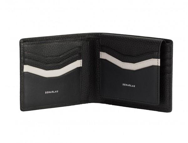 leather wallet men in black inside
