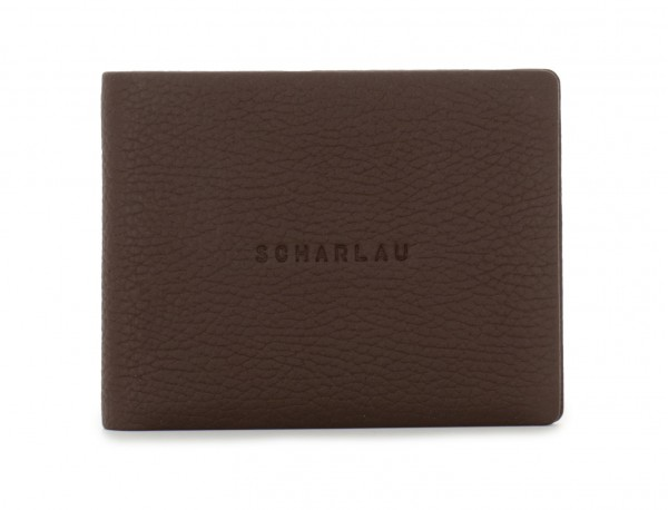 leather wallet men in brown front