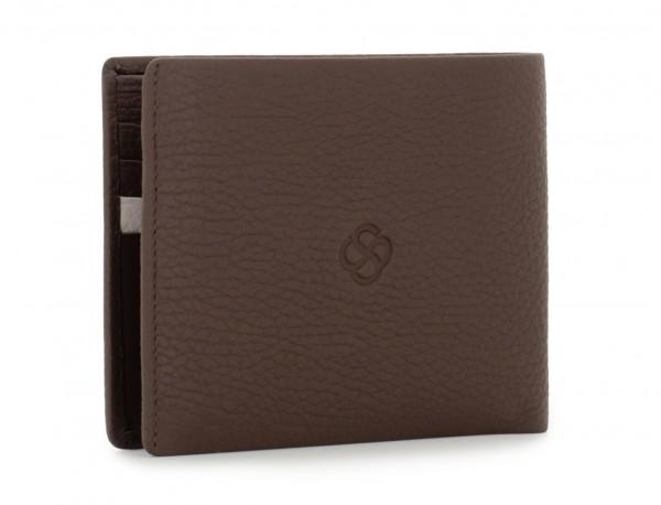 cartera de hombre con tarjetero marrón abierto