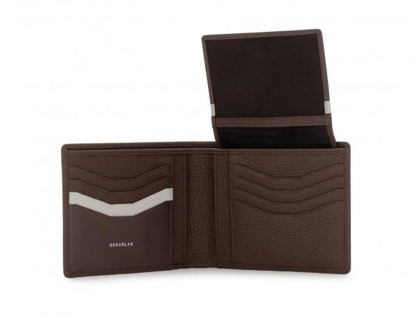 leather wallet men in brown open
