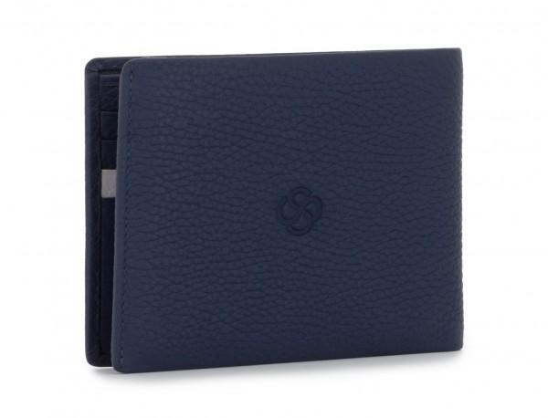 cartera de hombre con tarjetero azul back
