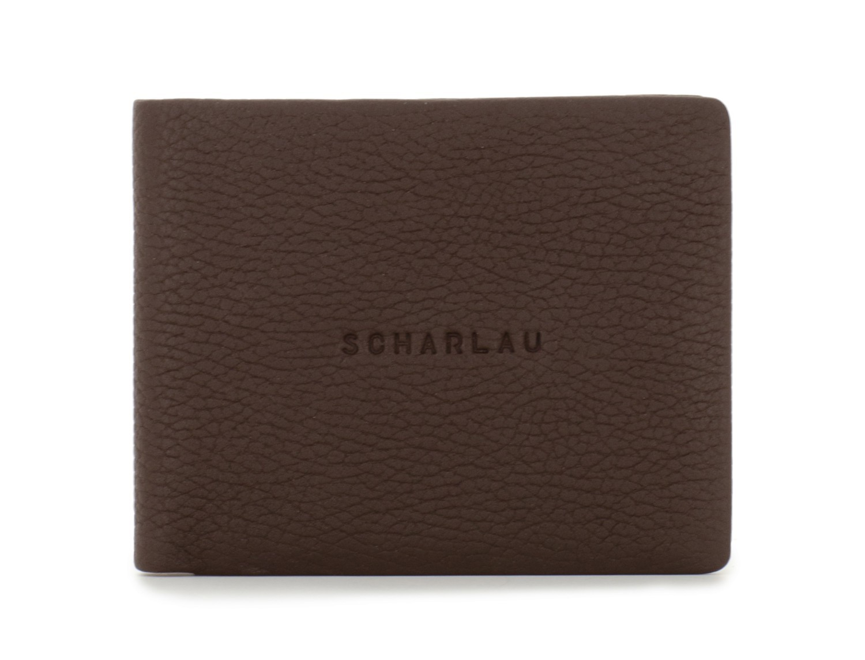 leather men wallet brown front