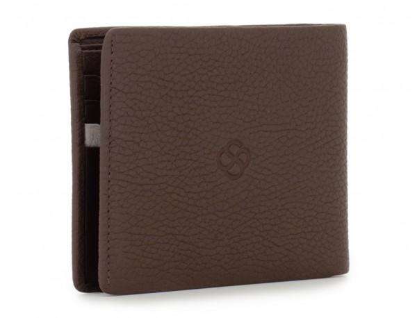 leather men wallet brown back