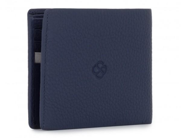leather men wallet blue back