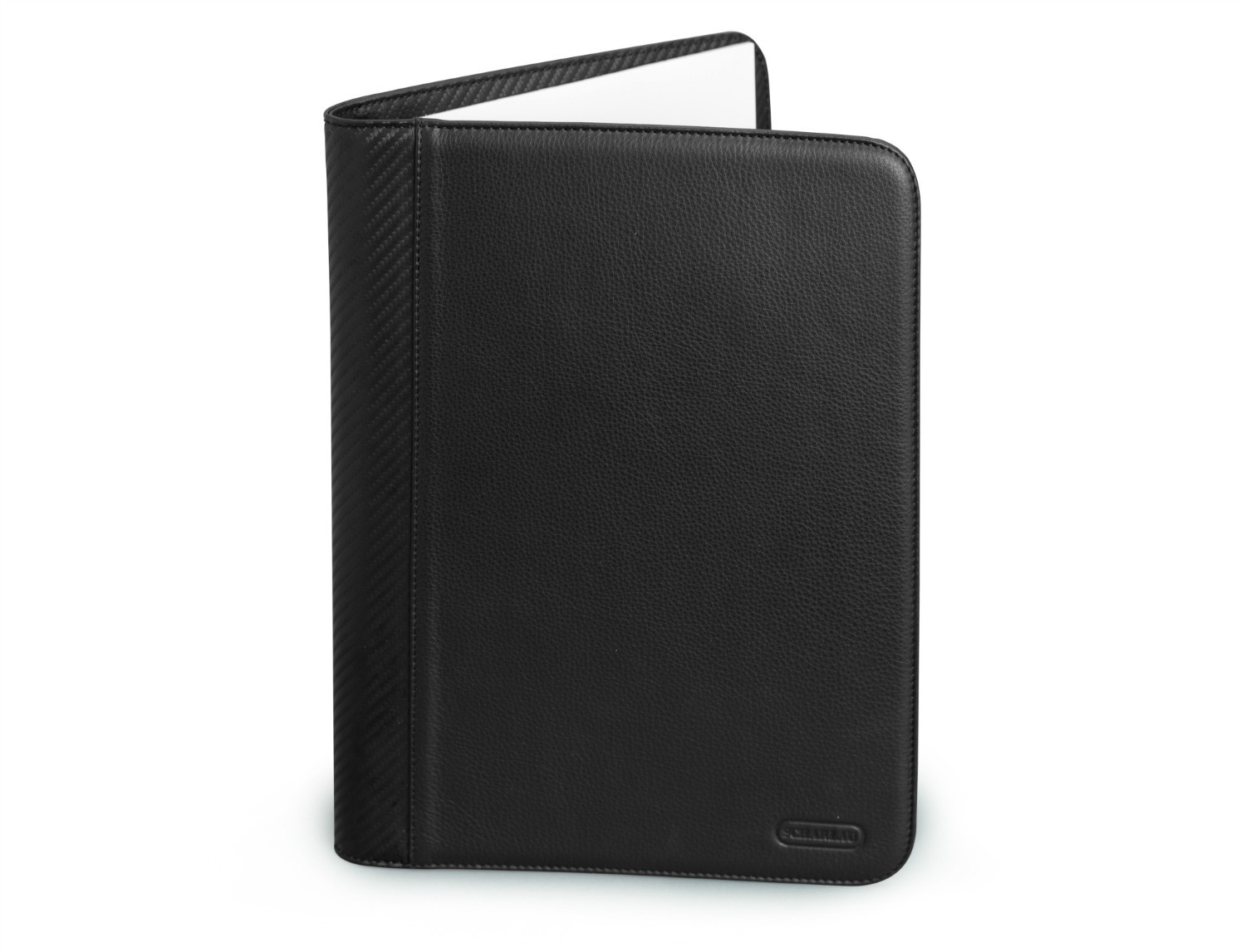 Leather letterpad A4 for business meetings with tablet compartment front