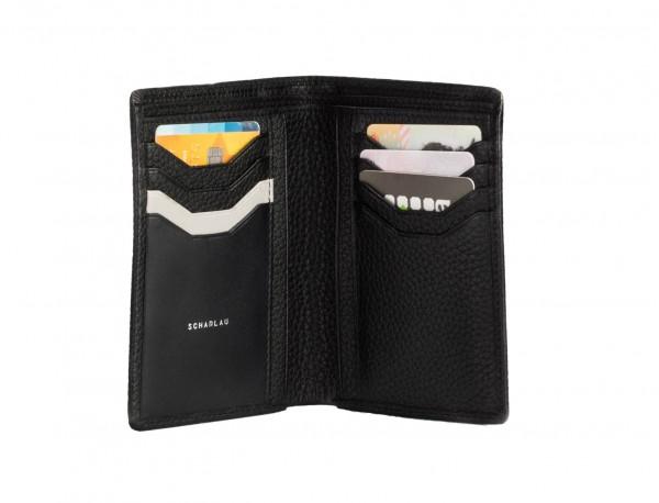 portafoglio in pelle porta carte nero detail