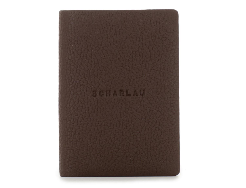 portafoglio in pelle porta carte marrone front