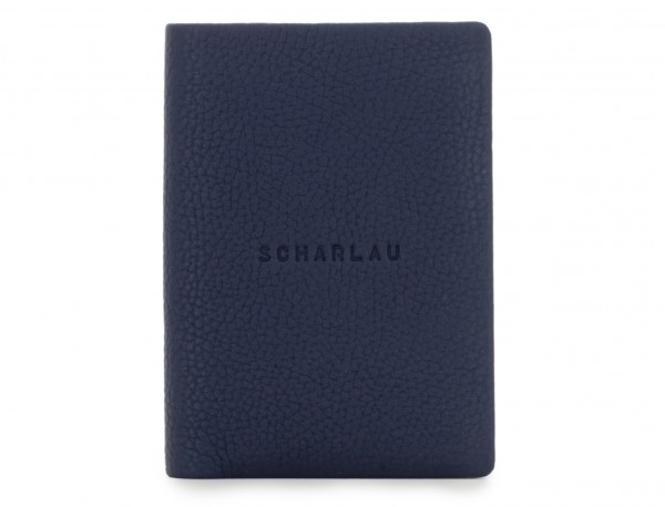 leather wallet for credit cards blue front
