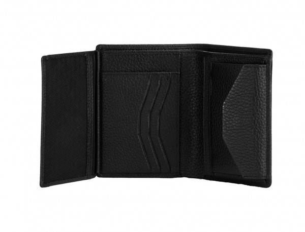 leather wallet with coin pocket black