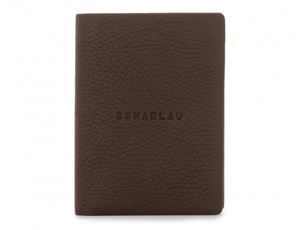 leather wallet with coin pocket brown front