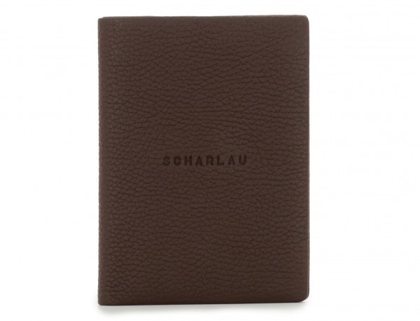 leather passport holder brown front