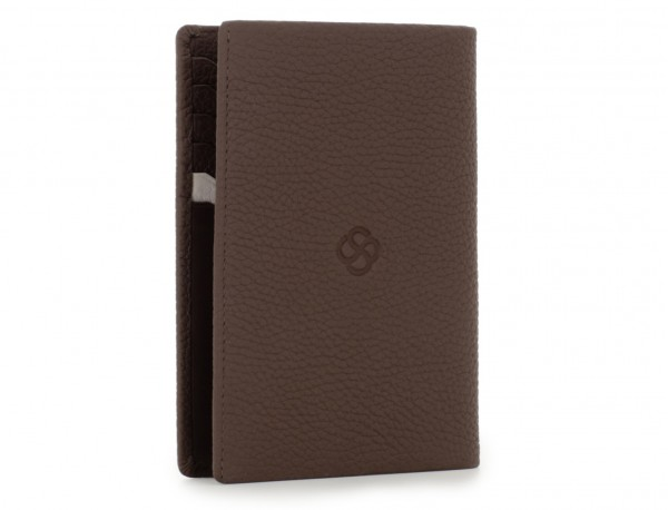 leather passport holder brown back
