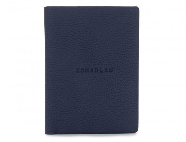 Porta passaporto in pelle blue front