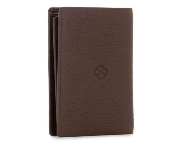 leather wallet for credit cards brown side