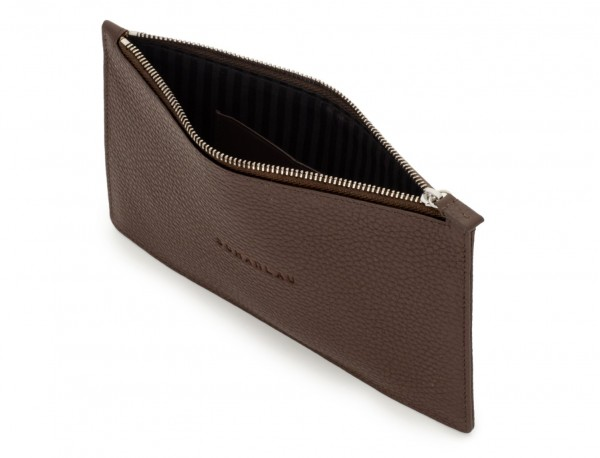 leather mask cover brown open