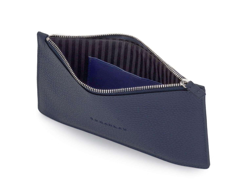 copertura per maschera in pelle blue open