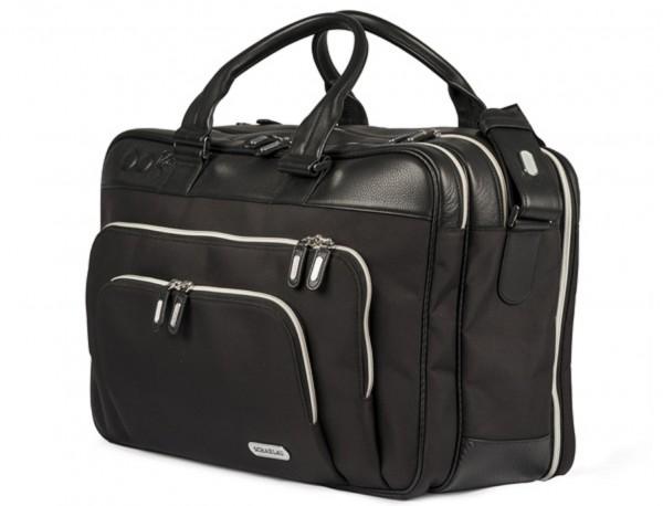 borsa da viaggio in nylon e pelle formato cabina side