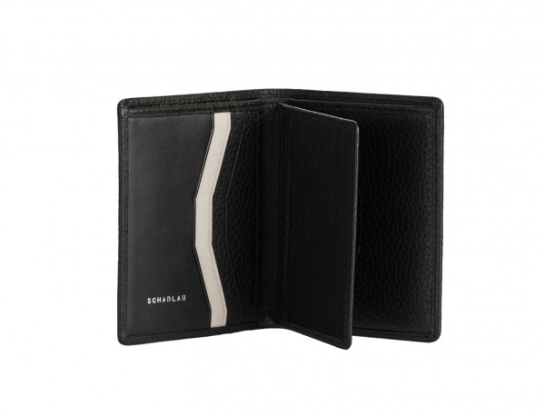 leather small wallet black inside