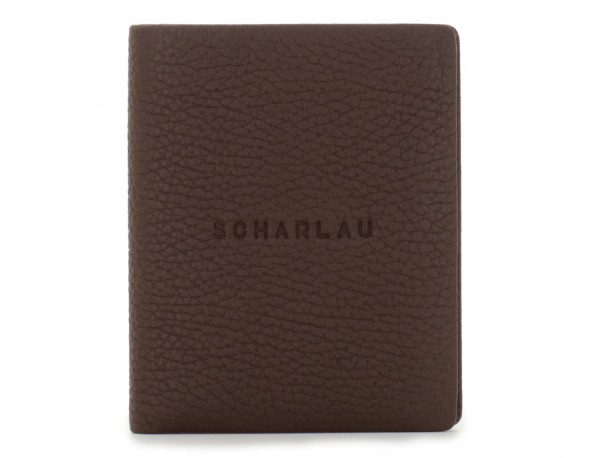 leather small wallet brown front