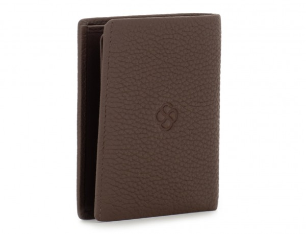 leather small wallet brown side