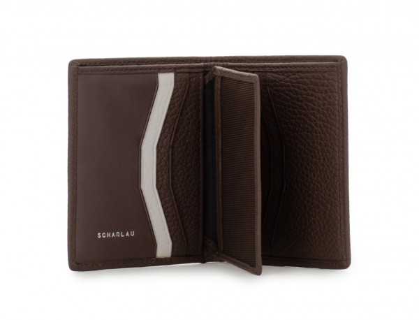 leather small wallet brown open