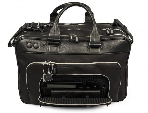 borsa da viaggio in nylon e pelle formato cabina open pocket