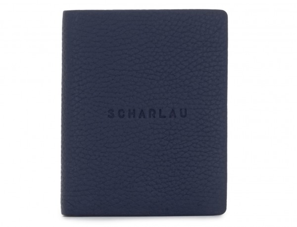 leather small wallet blue front