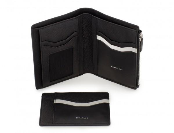 Portafoglio in pelle nero porta carte