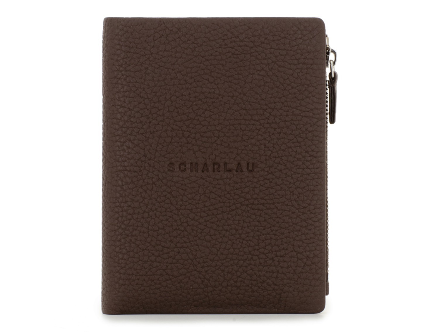 Leather wallet brown front