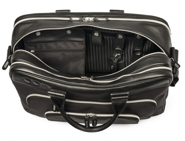nylon and leather travel bag cabin size inside