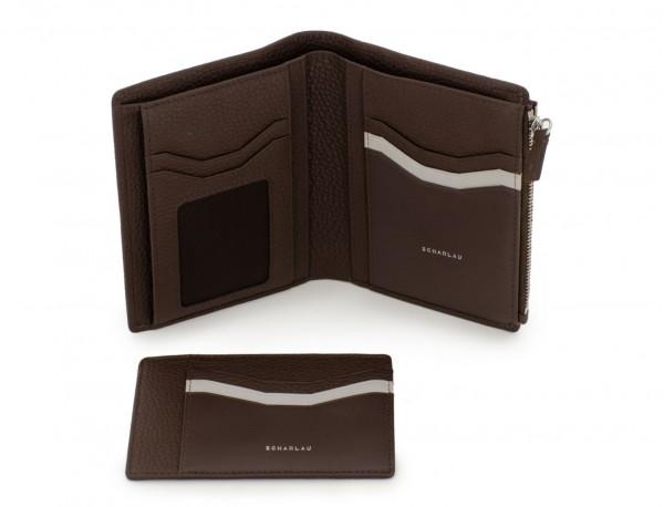 Leather wallet brown inside