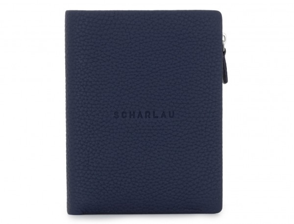 Leather wallet blu front