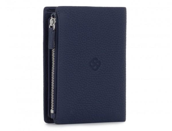 Leather wallet blu side