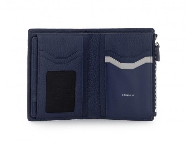 Leather wallet blu open