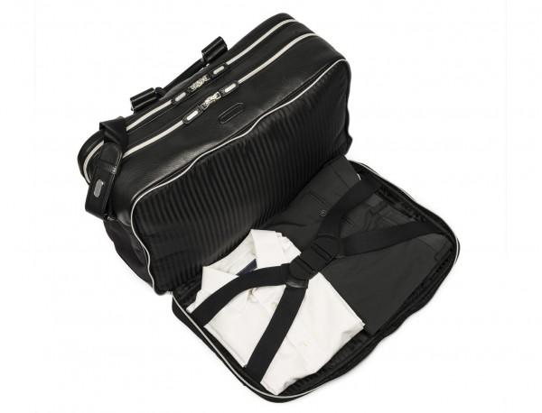 borsa da viaggio in nylon e pelle formato cabina inside pocket