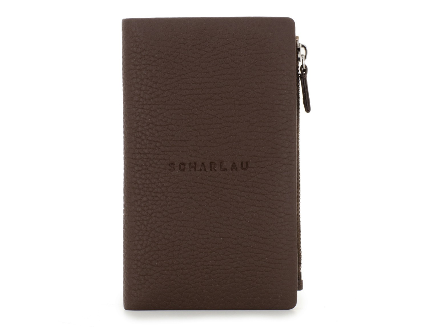 leather woman wallet brown front