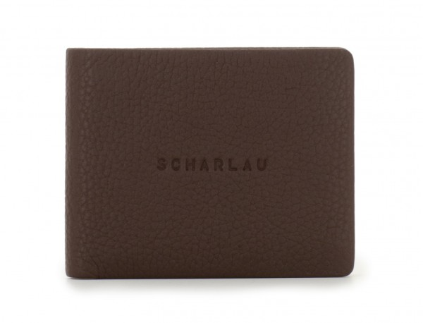 mini leather wallet brown front