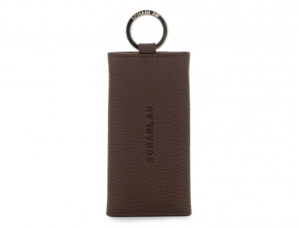 leather key holder brown front