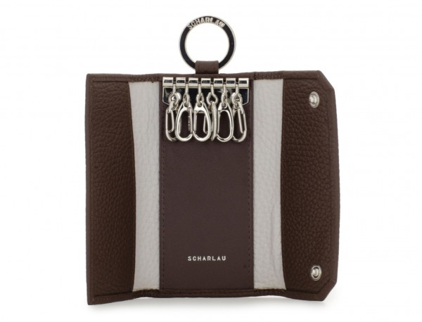 leather key holder brown open