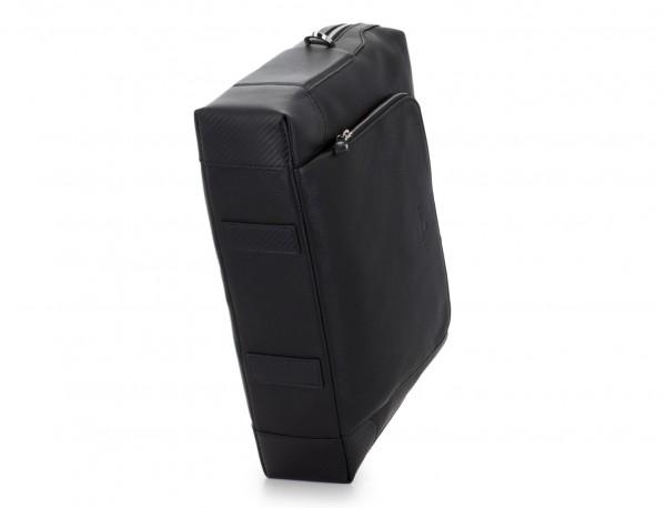 Leather briefbag in black base