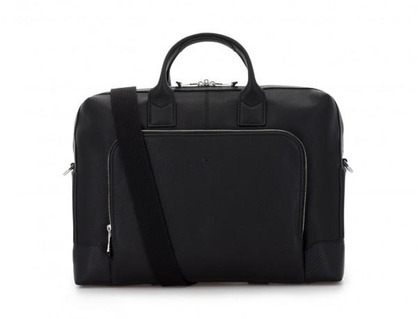 Leather briefbag in black shoulder