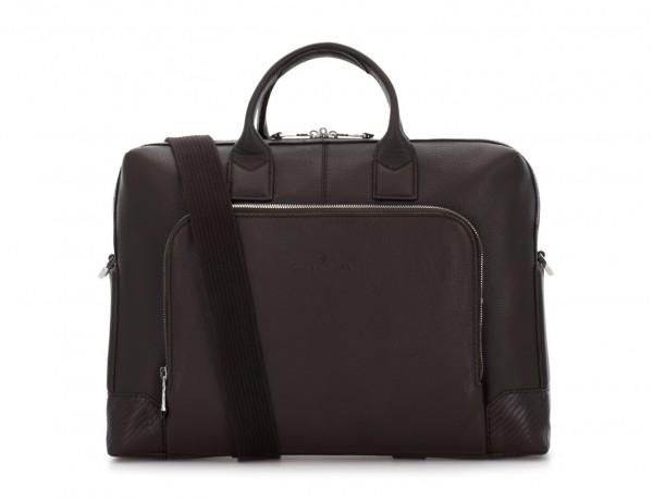 Leather briefbag in brown shoulder